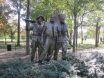 A bronze memorial tribute to all Americans who served in the Vietnam War conflict.