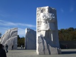 The Dr. Martin Luther King, Jr. memorial is one of the newest sites opened to the public.  It opened and was dedicated in August 2011.  The huge imposing granite structure speaks to justice, democracy, and hope-values that Dr. King believed in.
