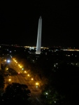 View of the Washington Monument from the top of the Hotel Washington.