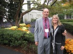 Picture of me and Mrs. Wheaton under one of the magnolia trees and by the east wing garden.
