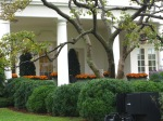 A look at the window of the President's office.  This window looks out into the Rose garden.