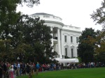 Looking back at the south portico from the White House south walking path.